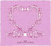 Ornamental emblem heart — Stock Vector