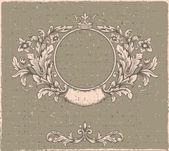 Retro floral cartouche. — Stock Vector