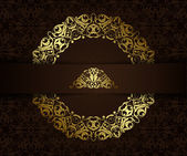 Vintage background with golden elements — Stock Vector