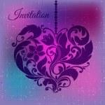Decorative ornamental heart. Valentine's Day — Stock Vector