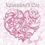 Decorative ornamental heart. Valentine's Day — Stock Vector #39774385