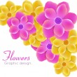 Vector de stock : Realistic flowers
