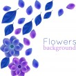 Bright flowers border — Stock Vector