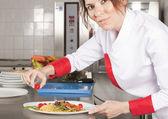 Female chef — Stock Photo