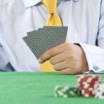 Kartenspieler — Stockfoto
