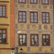 Facades of Warsaw Old Town buildings — Stock Photo