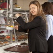 Buffet self-service food display — Stock Photo