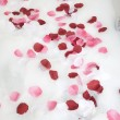 Bath water with rose petals — Stock Photo #26737475