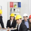 Stock Photo: Architects working in office on construction project
