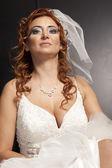 Portrait of beautiful bride. Wedding dress — Stock Photo