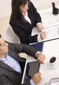 Job interview with two interviewers — Stock Photo
