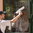 Stock Photo: Window cleaning