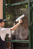 Window cleaning — Stock Photo