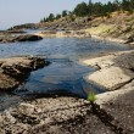 Granit shore — Stok fotoğraf