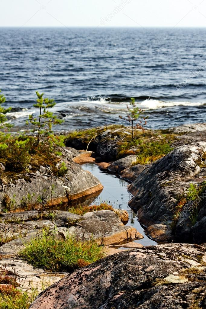 Ladoga shore in Russia — Stockfoto #18081165