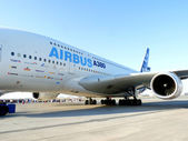 Airbus A380 on Display during Dubai International Airshow — Stock Photo