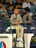 Female Tennis Chair Umpire — Stock Photo
