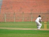Batsman on Strike — Stock Photo