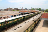 Trains standing at Sialkot Railway Station — Stock Photo