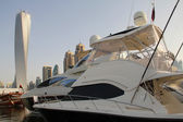 Raymarine luxury yachts on display — 图库照片