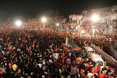 Huge crowd came to listen cricketer turned politician Imran Khan — 图库照片