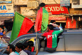 Imran Khan Election Campaign Supporters — Stock Photo