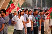 Imran Khan Supporters Pakistan Tehreek-e-Insaf — Stock Photo