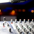 Royalty-Free Stock Photo: Audio mixer close up view