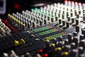 Audio mixer close up view — Stock Photo