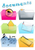Icons for documents — Stock Vector