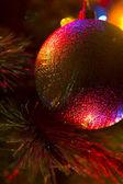 New years tree at night — Stock Photo
