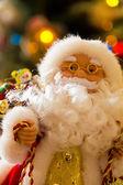 Santa Claus New Years statue (figure) — Stock Photo