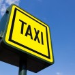 Stock Photo: Taxi rank sign