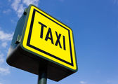 Taxi rank sign — Stock Photo