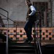 Man on stairs — Stock Photo #32782525