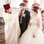 Wedding ceremony in church — Stock Photo #33129975