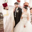 Wedding ceremony in church — Stock Photo