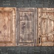 Stock Photo: Three toned wooden doors