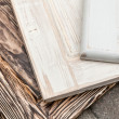 Stock Photo: Three wooden textures