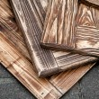 Closeup photo of three toned wooden boards — Stock Photo