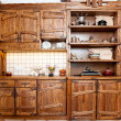 Furniture for kitchen in country style — Stock Photo