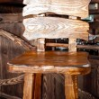 Wooden bar chair in country style — Stock Photo