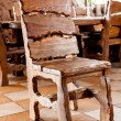 Stock Photo: Wooden chair standing in dining room