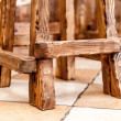 Wooden chair legs — Stock Photo