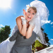 Min suit kidnapping screaming bride — Stock Photo #41614369