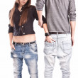 Man from back and woman standing in front of camera — Stock Photo #42042861