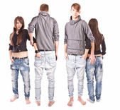 Full length portrait of couple from back and front — ストック写真