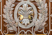 Photo of forged metal decoration on gates — Stock Photo