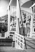 Wooden drawbridge at Amsterdam — Stock Photo