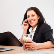 Smiling Executive Talking on the Phone — Stock Photo #10167944